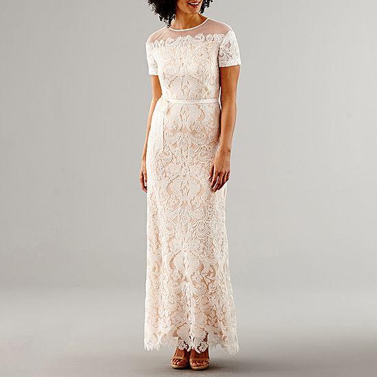 Melrose Short Sleeve Wedding Gown JCPenney