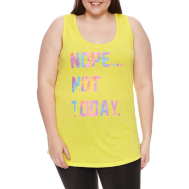 Chin-Up Tank Top-Juniors Plus