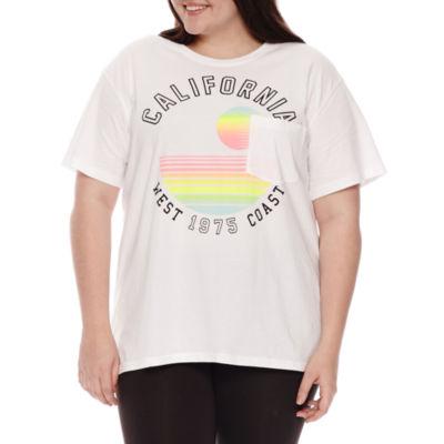 Flirtitude California Graphic T-Shirt- Juniors Plus