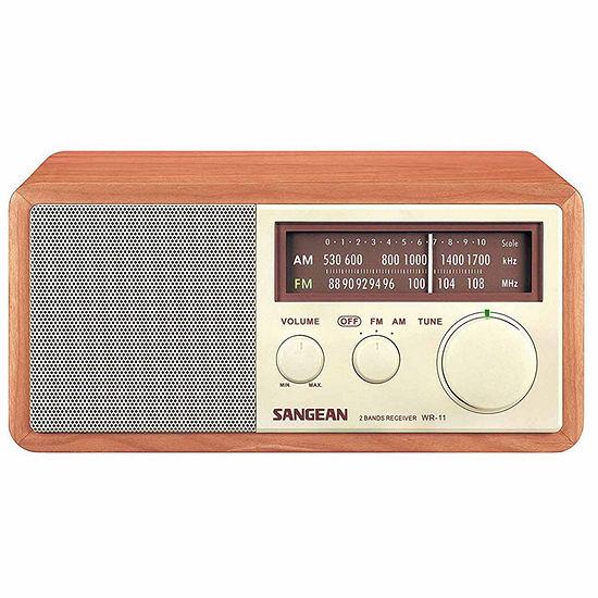 Sangean WR-11 AM/FM Wooden Cabinet Receiver / Tabletop Radio