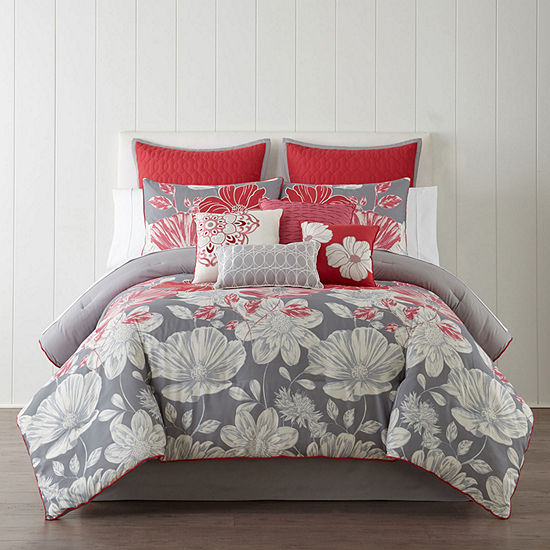 10-Pieces Home Expressions Julia Comforter Set