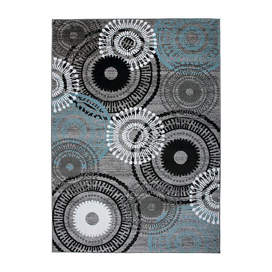 World Rug Gallery Contemporary Circles Rectangular Rugs