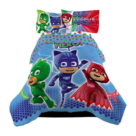 Pj Masks Midweight Reversible Comforter Set