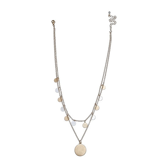 a.n.a Two Tone Layered 18 Inch Pendant