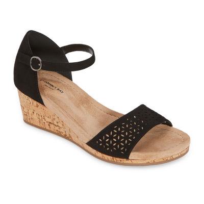 St. John's Bay Womens Mossley Wedge Sandals