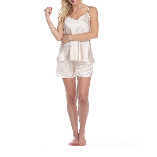 White Mark Womens Shorts Pajama Set 2-pc. Sleeveless