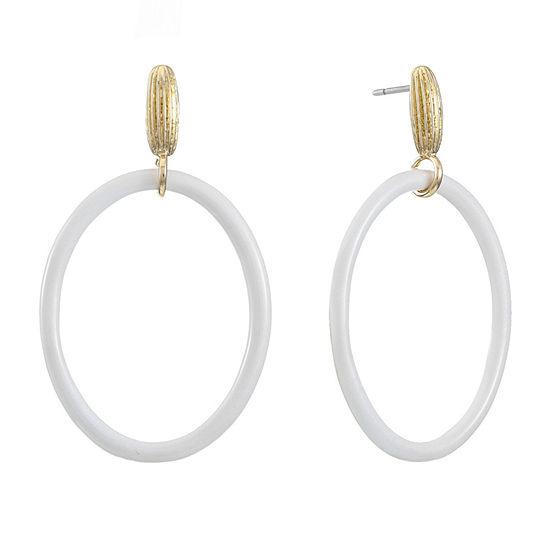 Monet Jewelry Oval Drop Earrings