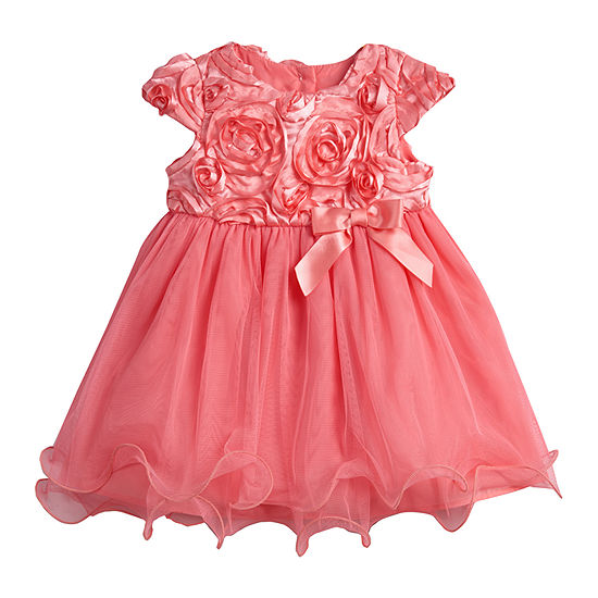 Marmellata - Baby Girls Short Sleeve Cap Sleeve A-Line Dress