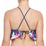 Arizona Floral Halter Swimsuit Top Juniors