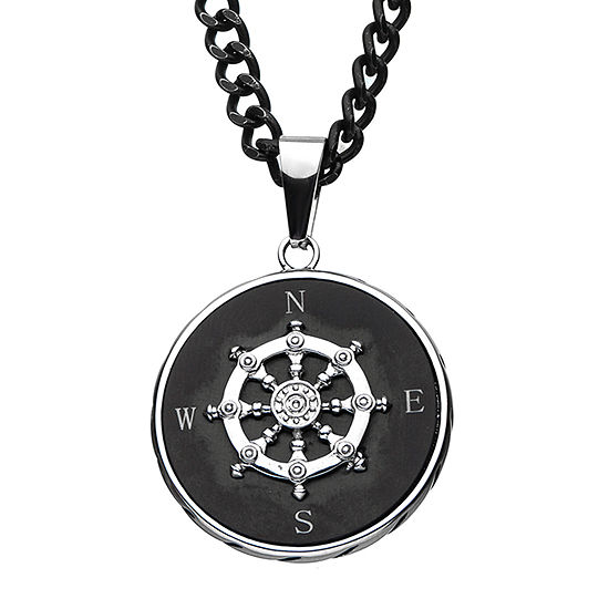 Inox Jewelry Mens Stainless Steel Pendant Necklace