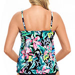Trimshaper Slimming Control Floral Tankini Swimsuit Top