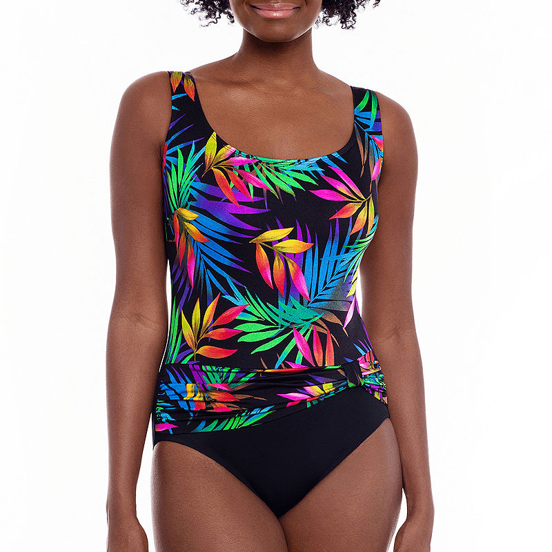 Vintage Bathing Suits | Retro Swimwear | Vintage Swimsuits Robby Len By Longitude Leaf One Piece Swimsuit $49.84 AT vintagedancer.com