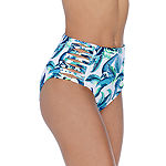 Ambrielle Floral High Waist Swimsuit Bottom