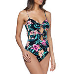 Ambrielle Floral One Piece Swimsuit