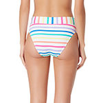Sugar Beach Striped High Waist Swimsuit Bottom