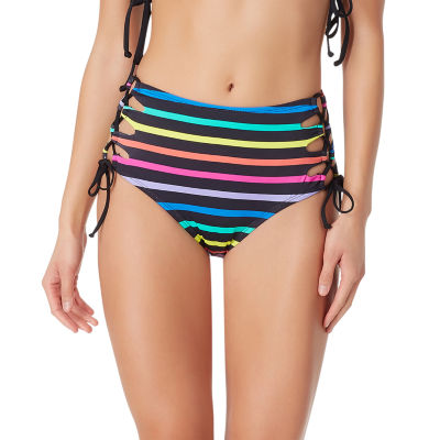 Sugar Beach Striped High Waist Swimsuit Bottom