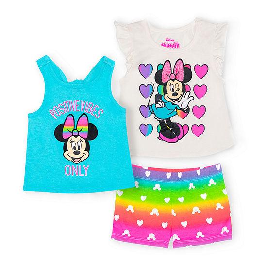 Disney Toddler Girls 3-pc. Minnie Mouse Short Set