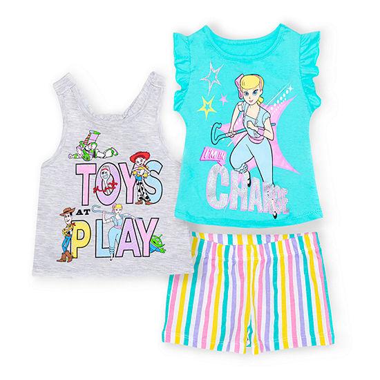 Disney Toddler Girls 3-pc. Toy Story Short Set