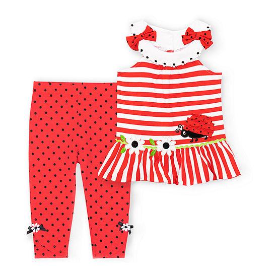 Nannette Baby Girls 2-pc. Pant Set Toddler