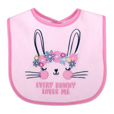 Okie Dokie Every Bunny Loves Me Girls Bib