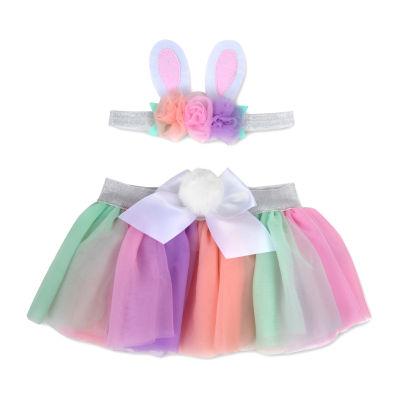 Okie Dokie 0-6m Tutu And Headband-Baby Girls 2-pc. Baby Gift Set