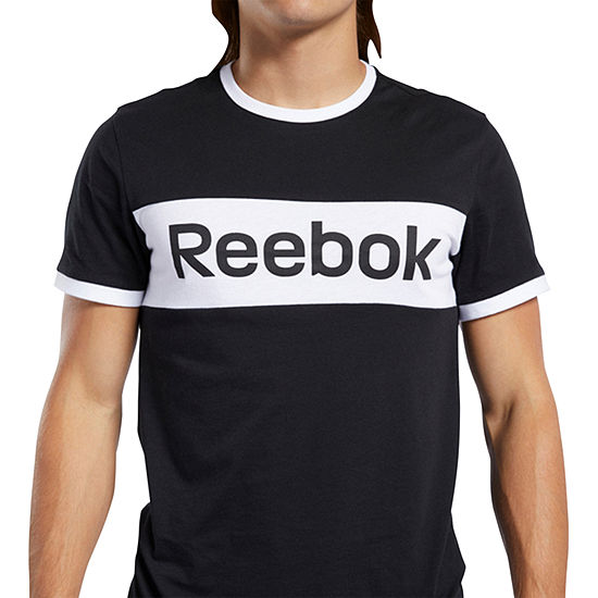 Reebok Linear Block Mens Crew Neck Short Sleeve T-Shirt
