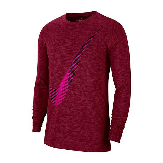 Nike Swoosh Mens Crew Neck Long Sleeve T-Shirt