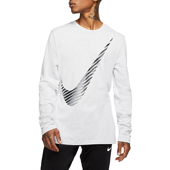 Nike Mens Crew Neck Long Sleeve T-Shirt