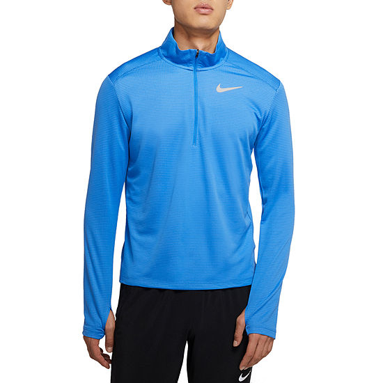 Nike Mens Mock Neck Long Sleeve Quarter-Zip Pullover