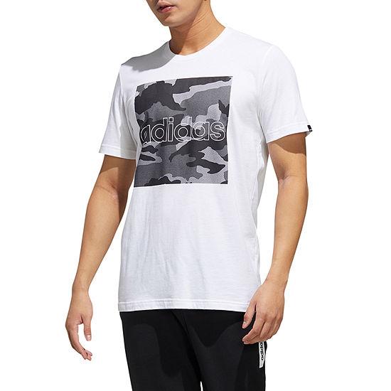 adidas Mens Crew Neck Short Sleeve T-Shirt