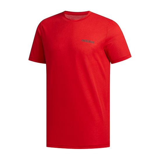 adidas-Big and Tall Mens Crew Neck Short Sleeve Moisture Wicking T-Shirt