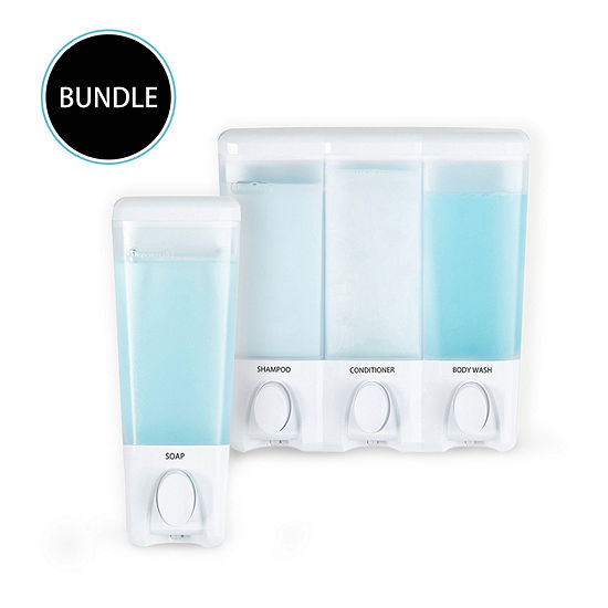 Better Living Clear Choice Dispenser 1 and 3 Bundle White