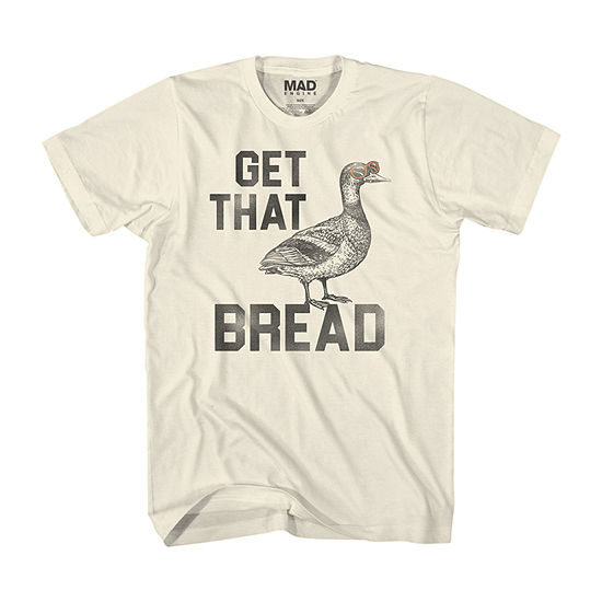 Get That Bread Mens Crew Neck Short Sleeve Humor Graphic T-Shirt