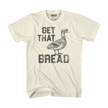 Get That Bread Mens Crew Neck Short Sleeve Humor Graphic T-Shirt, Large , White