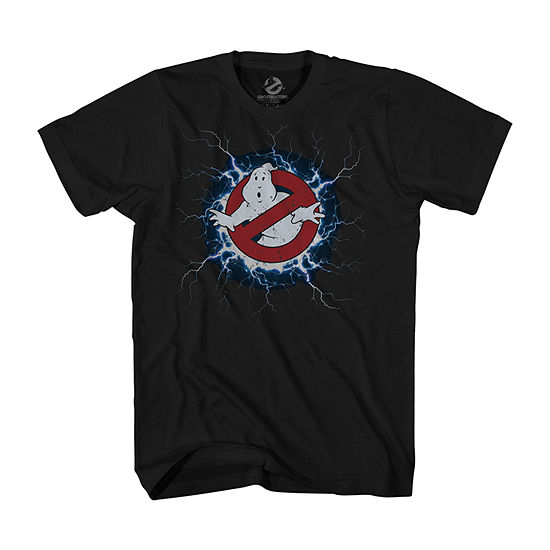 Mens Crew Neck Short Sleeve Ghostbusters Graphic T-Shirt