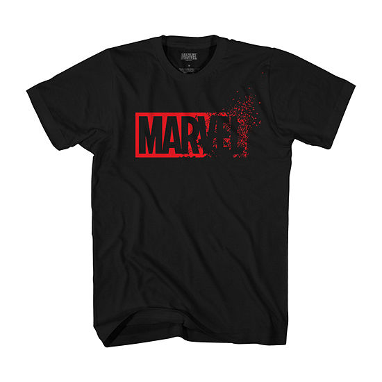 Mens Crew Neck Short Sleeve Marvel Graphic T-Shirt