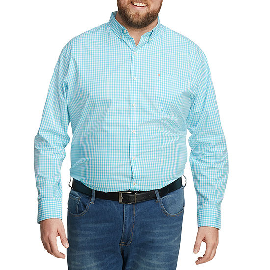 IZOD Big and Tall Mens Long Sleeve Button-Down Shirt