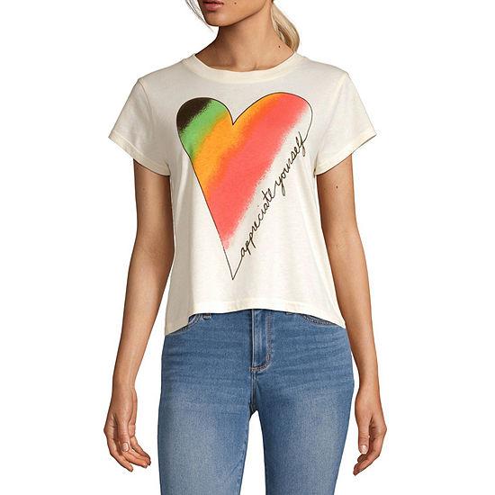 Mighty Fine-Juniors Women'S Empowerment Womens Crew Neck Short Sleeve Graphic T-Shirt