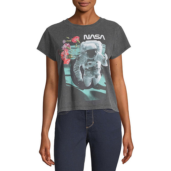 Mighty Fine Juniors Spring 20 Table Tee-Womens Crew Neck Short Sleeve T-Shirt