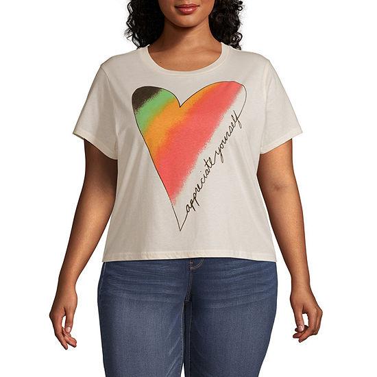 Mighty Fine Juniors Plus Spring 20 Tee-Womens Crew Neck Short Sleeve T-Shirt