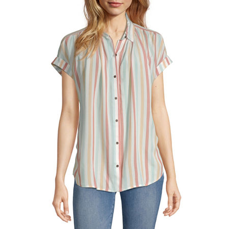 a.n.a Womens Short Sleeve Tunic Top, X-small , Multiple Colors
