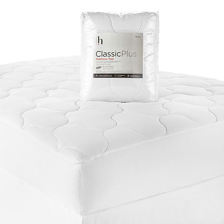 Home Expressions Classic Plus Mattress Pad, One Size , White