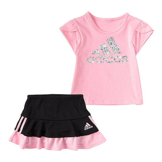 adidas Baby Girls 2-pc. Skort Set