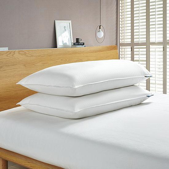 Serta White Goose Feather Back Sleeper 2-Pack Pillow