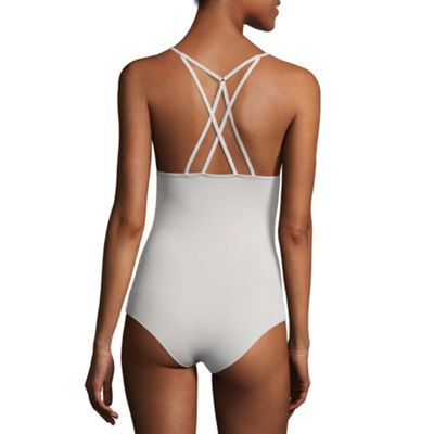 Flirtitude Strappy Back Bodysuit - Juniors