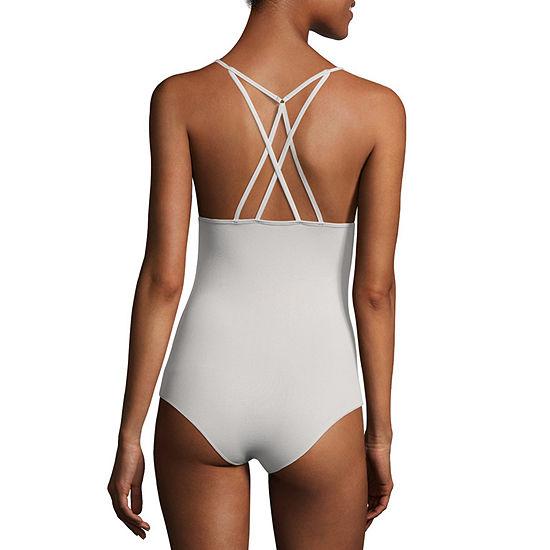 Flirtitude Strappy Back Bodysuit - Juniors