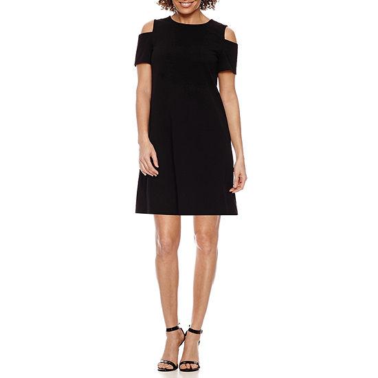 Ronni Nicole Short Sleeve A-Line Dress-Petite