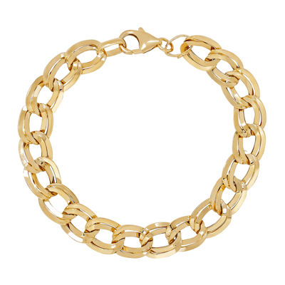 Made in Italy 14K Gold 7.5 Inch Hollow Link Link Bracelet