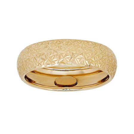 14K Yellow Gold Diamond Cut Band Ring JCPenney