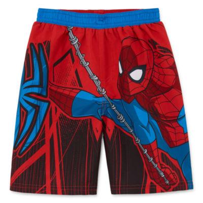 Boys Spiderman Swim Trunks-Toddler
